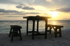 In het strand van Eiland Gili Royalty-vrije Stock Foto