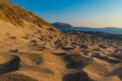 Strand van Falassarna in Chania van Kreta in Griekenland stock afbeeldingen