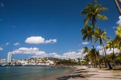 Strand van Fort de France, Martinique stock afbeeldingen