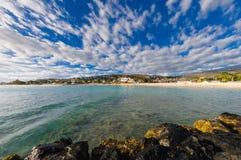 Strand van Heilige Gilles bij Bijeenkomsteiland Royalty-vrije Stock Foto's