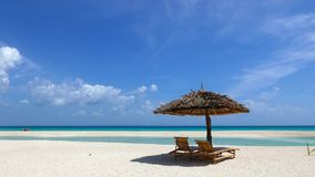 Strand van het Bantayan het witte zand stock video