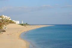 Strand van Morro Jable, Fuerteventura Spanje stock foto's