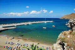 Strand van Panormo, Kreta Stock Foto's