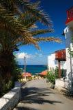 Strand van Panormo, Kreta Stock Afbeeldingen