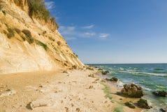 Strand van reservoir Tsimlyansk Stock Foto