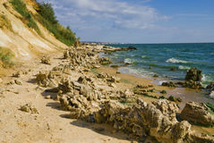 Strand van reservoir Tsimlyansk Royalty-vrije Stock Afbeeldingen