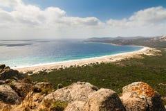Strand van roccapina, Corsica Stock Afbeeldingen