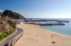 Strand van San Sebastian Royalty-vrije Stock Foto's