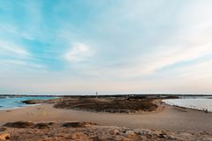 Strand van Ses Illetes, Formentera Stock Foto's