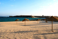 Strand van Tarifa - Spanje Stock Afbeeldingen