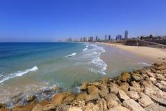 Strand van Tel Aviv Stock Afbeelding