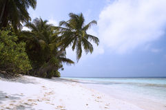 Strand van tropisch eiland Stock Afbeelding