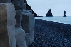 Strand van Vik i Myrdal, IJsland Stock Afbeelding