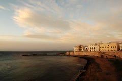 Strand van zuiverheid in Gallipoli - Italië Royalty-vrije Stock Foto's