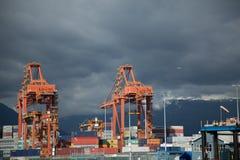 Strand Vancouver Kanada för skeppsdocka för handel för affär för exportimportport Arkivfoton