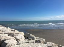 Strand Venedig, Italien Fotografering för Bildbyråer