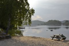 Strand vid Breiungen Royaltyfri Foto