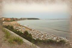Strand vid havet Fotografering för Bildbyråer