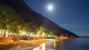Strand vid natt Royaltyfri Fotografi