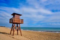 Strand Vinaroz Playa Del Forti in Castellon stockfotografie
