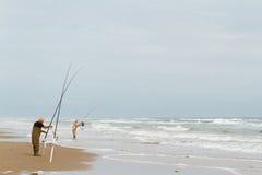 Strand visserij stock foto