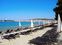 Strand Vodice, Kroatien Stockfotos