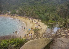 Strand-Vogelperspektive Tayrona-Park Cabo San Juan Lizenzfreie Stockfotos