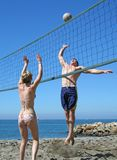 Strand-Volleyball Stockbild