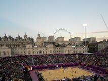 Strand-Volleyball-London-Olympics 2012 stockfotografie