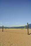 Strand-Volleyball-Netz Lizenzfreie Stockbilder
