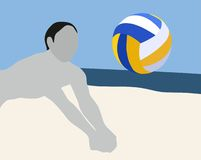 Strand-Volleyball-Sport Stockbilder