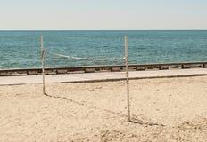 Strand-Volleyballnetz Lizenzfreies Stockfoto