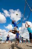 Strand-Volleyballspitze Lizenzfreies Stockbild