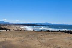 Strand von Anglet stockbild