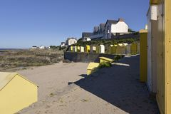 Strand von Batz-sur-MER in Frankreich Stockbild