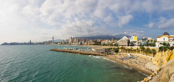 Strand von Benidorm Stockfotografie