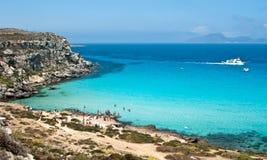 Strand von favignana. aegadian Insel Stockfoto