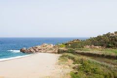 Strand von Geropotamos Stockfotos