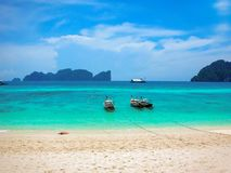 Strand von Koh Phi Phi Don, Phi Phi Islands, Thailand stockfotos