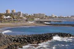 Strand von Las Amerika bei Tenerife Stockfotos