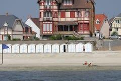 Strand von Le Crotoy, Frankreich Stockfotos