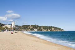Strand von Lloret de Mar lizenzfreies stockfoto
