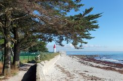 Strand von Loctudy Stockfotografie