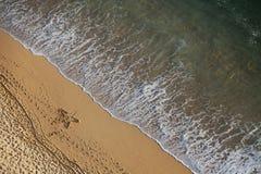 Strand von oben Lizenzfreie Stockfotos