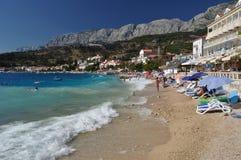 Strand von Podgora Lizenzfreies Stockfoto