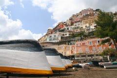 Strand von Positano stockfotografie