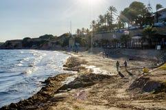 Strand von Punta Prima stockfotos