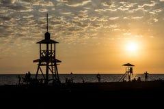 Am Strand von Schwarzem Meer in Adler Russland Stockfotografie