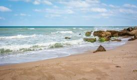 Strand von Schwarzem Meer in der Türkei Stockbild