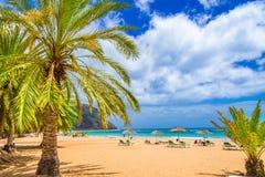 Strand von Teneriffa, Kanarische Inseln, Spanien lizenzfreies stockbild
